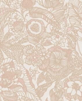 55-386514 Eijffinger Enso Blumenmuster rosegold Vliestapete