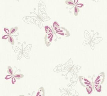 AS Creation Happy Spring 8-34765-1 Schmetterlinge pink Vlies-Tapete