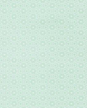 Glänzend Vlies-Tapete Grün-Weiß Kind