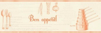 Texdecor Caselio - Bon Appetit 36-BAP68473017 Borte orange Küche Vlies