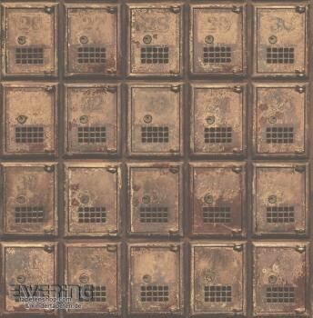 Rasch Textil Reclaimed 23-022353 Rost Schließfächer Vliestapete