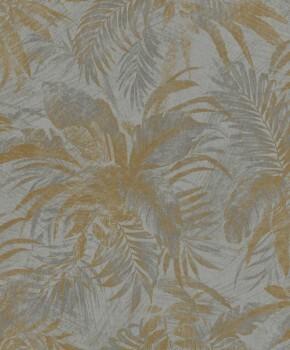 23-229126 Rasch Textil Abaca Vliestapete floral silber gold