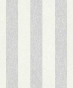 Grau-Weiß Streifen Tapete Vlies Wohnzimmer
