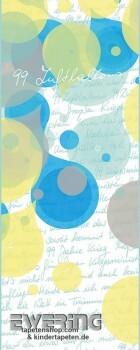 Marburg Nena 6-46101 Wandbild 99 Luftballons Liedtext weiß blau