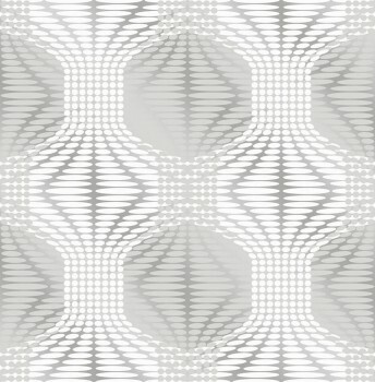 Rasch Textil 23-022628 Gravity Tapete silber Muster Retro