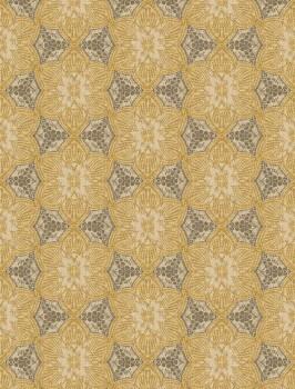 55-376095 Eijffinger Siroc Blumen Vlies Wandbild ocker glänzend