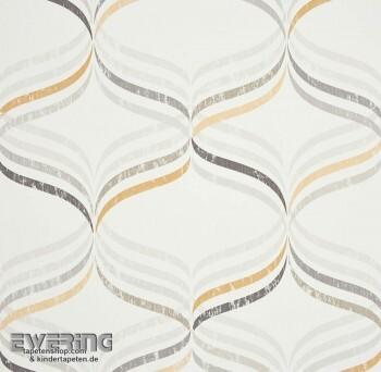 Caselio Vitamine 36-VTA62841020 Streifen creme-weiß Vliestapete