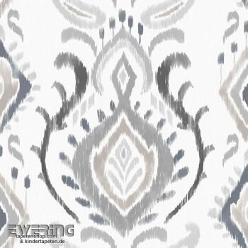 Rasch Textil Cabana 23-148649 grau Verzierung Vliestapete matt