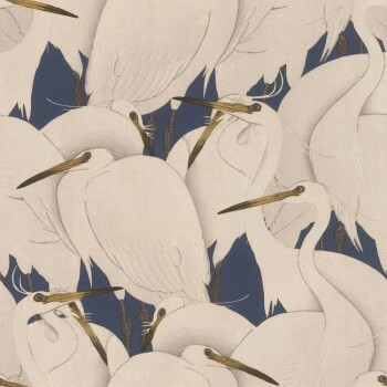 Tapete Vlies Vögel Muster Rasch Kimono 409550