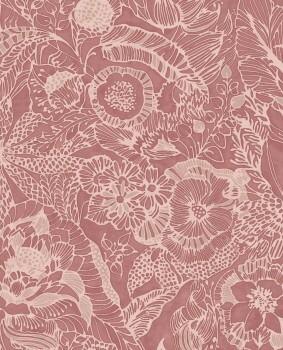 Eijffinger Enso 55-386515 Vliestapete Blumenmuster rot