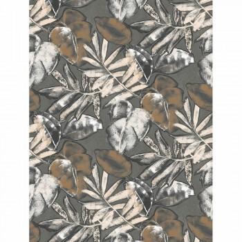 Casadeco - Natura Wandbild ecodeco 36-NTRA83929360 Blätter grau