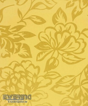 36-MDG17421101 Casadeco - Midnight 3 Texdecor Vlies Blumen Gelb