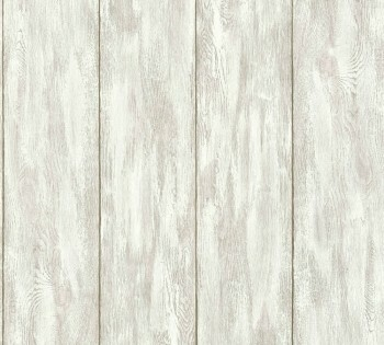 AS Creation Neue Bude 2.0 8-36152-1, 361521 Holzlatten weiß-grau Vlies Tapete