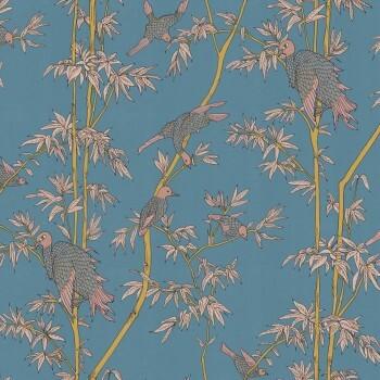 Blau Vögel Bambus Wandbild 62-SPID230806 Tenue de Ville SPICE