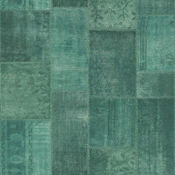Rasch Textil Boho Chic 23-148652 Mustertapete kobaltgrün kariert