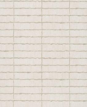 55-376075 Eijffinger Siroc gewebt Blockmuster hell-beige Vliestapete