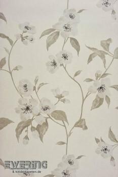 36-INF24839122 Casadeco Infinity Vliestapete Blumenranke creme-weiß