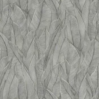 Tapete Blätter Hellgrau Casamance - Rio Mandeira 48-74280170