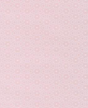 Blumen Mädchen Vlies Tapete Weiß-Rosa