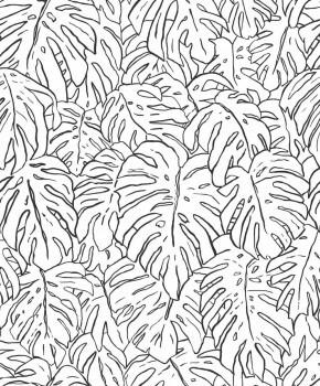 Grau Gold Tapete Palmenblätter Tenue de Ville SPICE 62-SPI230326