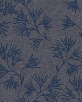 Eijffinger Enso 55-386553 Vliestapete Blumen blau rosegold