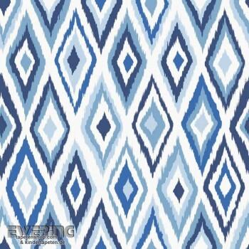 23-148634 Cabana Rasch Textil blau Ethno-Muster Vliestapete