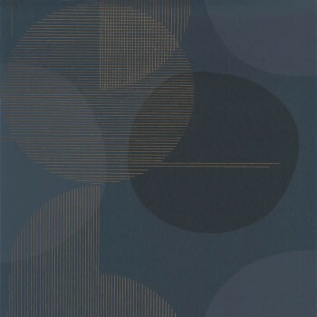 Tapete grafische Kreise blau 36-VISI83676415 Casadeco - Vision