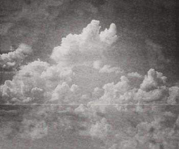 Grün Strich Wolken Grau Wandbild Tenue de Ville BALSAM 62-BLD201514