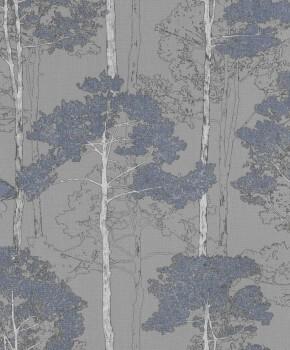 Rasch 7-410846 Hyde Park grau Vlies-Tapete Bäume Wohnzimmer