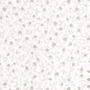 36-HYG100561132 Texdecor Caselio - Hygge Blumenranken Tapete beige