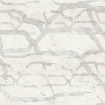 Grau-Beige Mustertapete Vlies Tenue de Ville SAUDADE 62-SAU210401