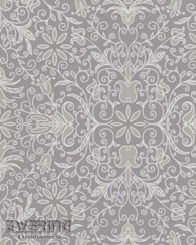 Marburg Zuhause Wohnen 4 6-57111 Blumen Muster-Tapete grau taupe