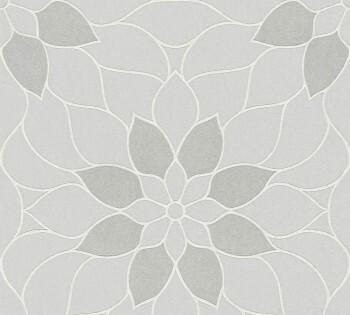8-3617-21, 361721 AS Creation Neue Bude 2.0 hell-grau Blumen Vlies Tapete