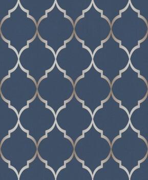 Rasch Sightseeing 7-701647 Grafisches Ornament dunkelblau