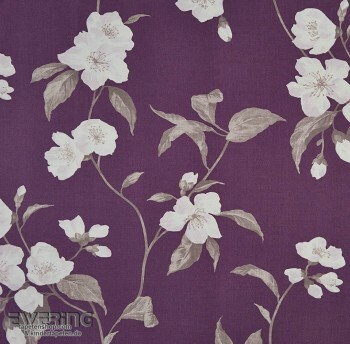 Casadeco Infinity 36-INF24885216 Blumenranken violett Deko-Stoff