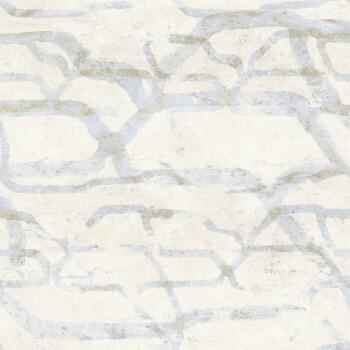 Vliestapete Beige Blau Muster 62-SAU210403 Tenue de Ville SAUDADE