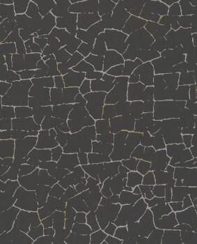 55-386562 Eijffinger Enso Vliestapete schwarz Rissoptik