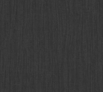 AS Creation Saffiano 34061-5, 340615 Vlies Tapete schwarz Uni