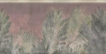Palmen-Blätter Wandbild Grün Beige 62-ODED190910 Tenue de Ville ODE