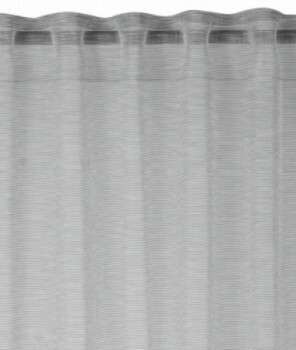 Rasch home 45-199258 Fertigdeko Schlaufenband hellgrau halbtransparent