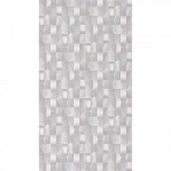 Mustertapete Vlies Silber Grau