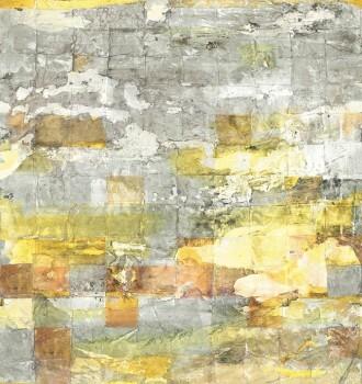 36-PGE80843218 Casadeco - Prague Texdecor Stein-Mauer Paneel gelb