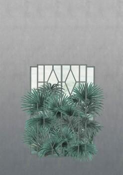 Fenster Wandbild Pflanzen Grün 62-ODED191705 Tenue de Ville ODE