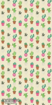 23-158604 Cabana Rasch Textil Fototapete beige Kaktus glatt
