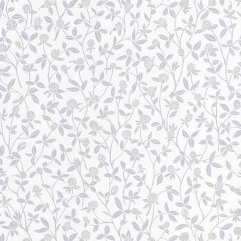 36-HYG100569027 Caselio - Hygge Vliestapete Blumenranken grau silber
