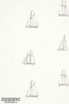 Texdecor Casadeco - Marina 36-MRN25049103 creme-weiß Vlies Boote