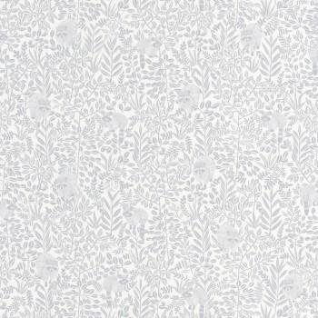 36-HYG100549100 Tapete Caselio - Hygge Waschbären weiß Blaugrau