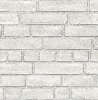 Restored 23-024051 Rasch Textil Mauer Optik Tapete Vlies hellgrau