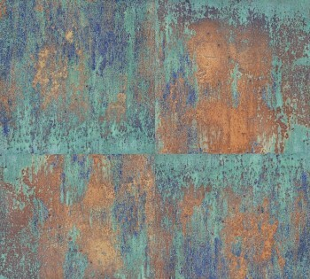 AS Creation Neue Bude 2.0 8-36118-1, 361181 Vliestapete Rost-Optik blau