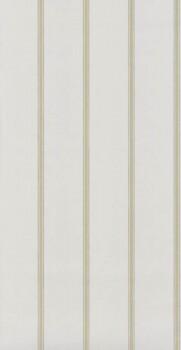 Streifen-Tapete Weiß